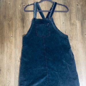 Navy blue corduroy jumper
